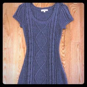 Sweater dress in gray